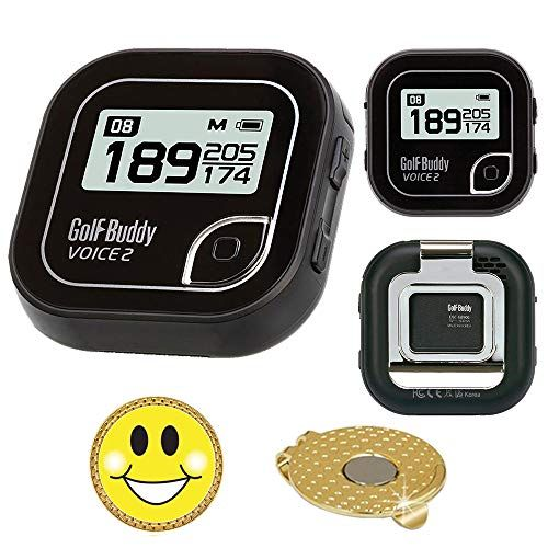 AMBA7 GolfBuddy Voice 2 Golf GPS/Rangefinder Bundle with