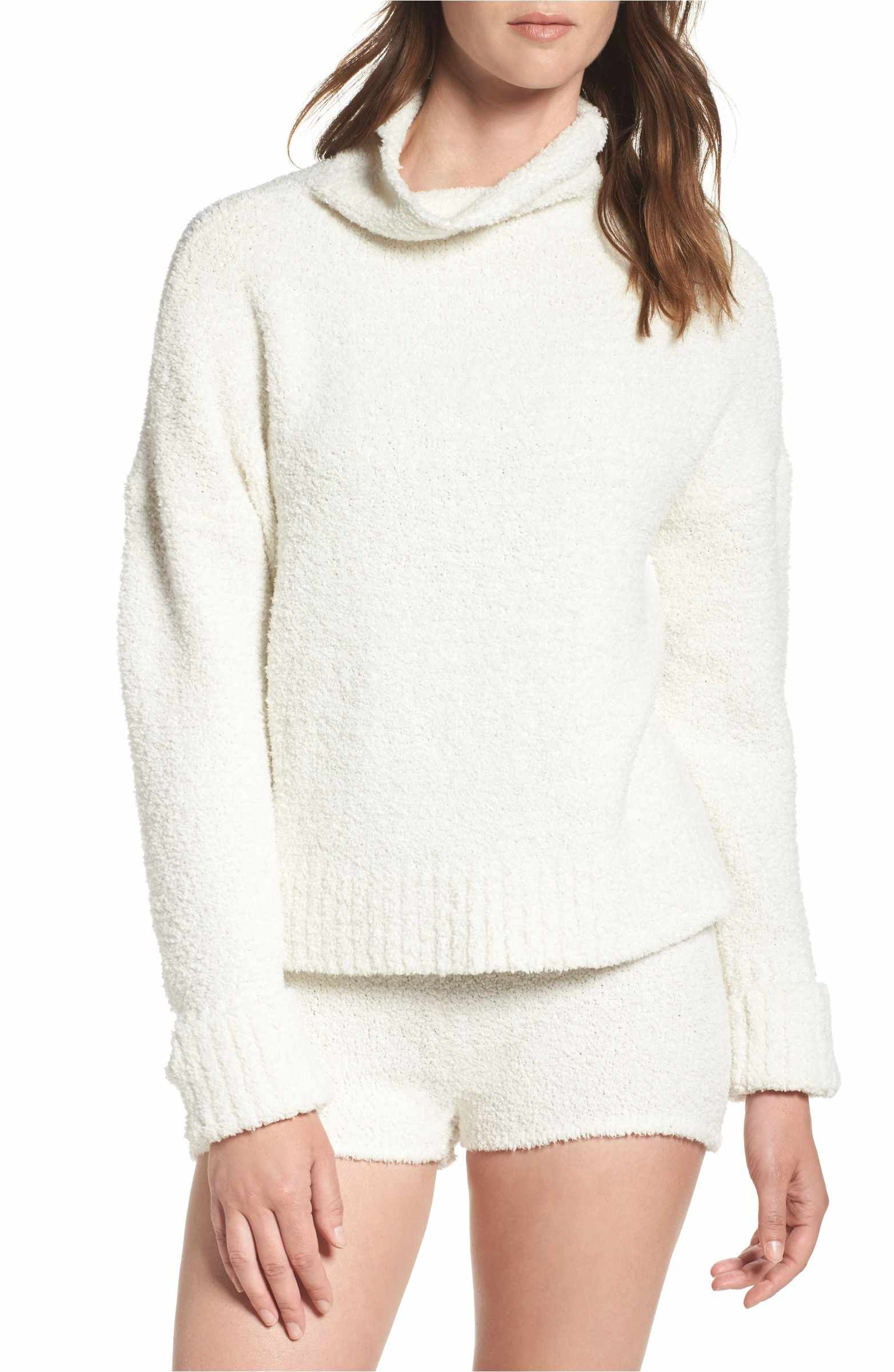 UGG® Sweater Knit Pajama Shorts Pullover, Cowl neck, Fashion