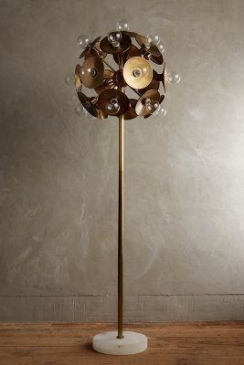 Anthropologie Metallic Bloom Floor Lamp #anthrofave