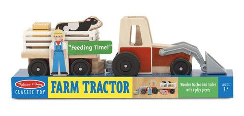 Melissa & Doug Childrens Toys Farm Tractor - Dandy Lions Boutique #Tractor #farm #wooden #toys #animals