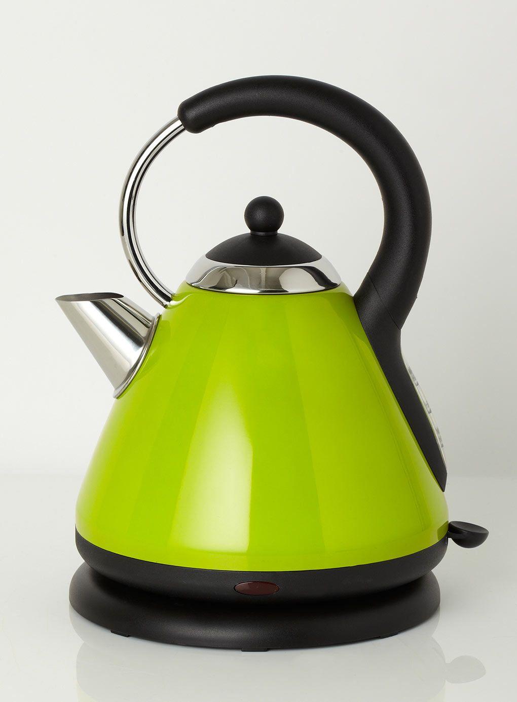 Kitchen small appliance essentials - Lime Essentials Pyramid Kettle