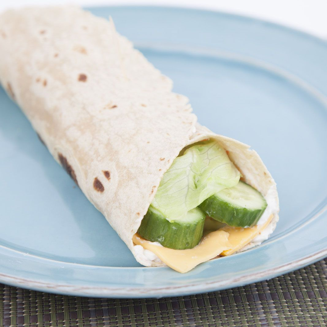 Cucumber Lettuce Cheese Wrap Recipe And Comprehension