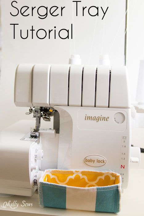serger thread catcher tray >should have thought of this myself ...