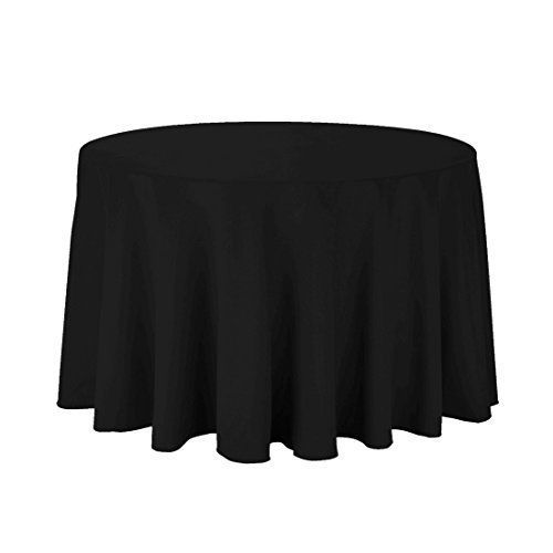 [Batman Birthday Party] Trimming Shop Black Cotton Polyester Round Table  Cloth Cover For Dining U0026 Christmas Party 70 Inches (Pack Of 10) ** Find Out  More ...