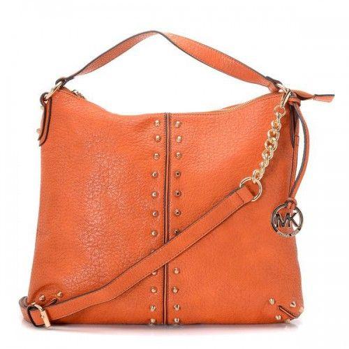 michael kors weston pebbled stud large brown shoulder bags cheap rh pinterest com