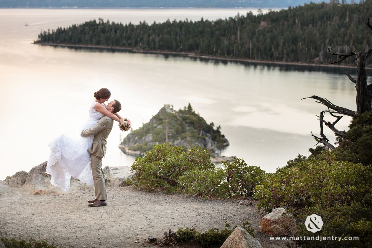 A shabby chic lake tahoe wedding with matt and jentry