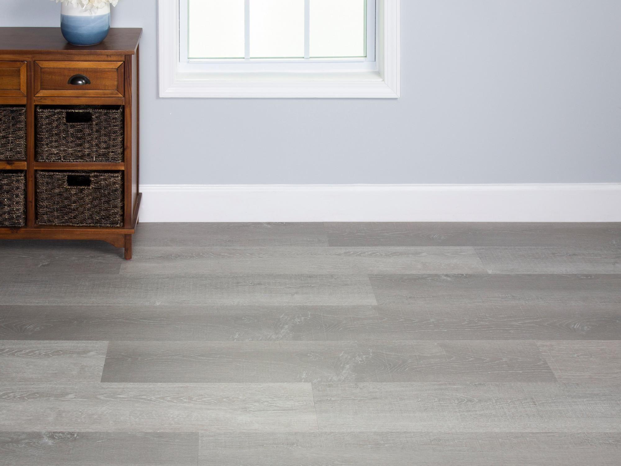Soft Grey Oak Rigid Core Luxury Vinyl Plank Cork Back In 2020 Grey Vinyl Plank Flooring Grey Flooring Living Room Living Room Wood Floor