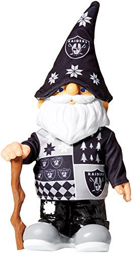 Nfl Oakland Raiders Real Ugly Sweater Gnome Busy Block Black