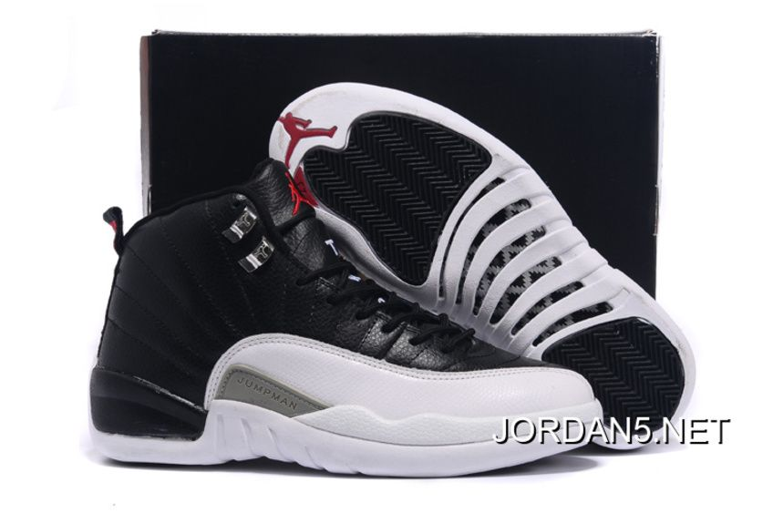 Air Jordan 12 Retro Basketball Shoes Glow In The Dark Navy White TopDeals