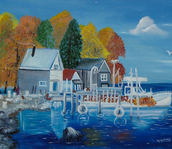 Doug's Harbor   Original Oil Paintings by M. Pappas