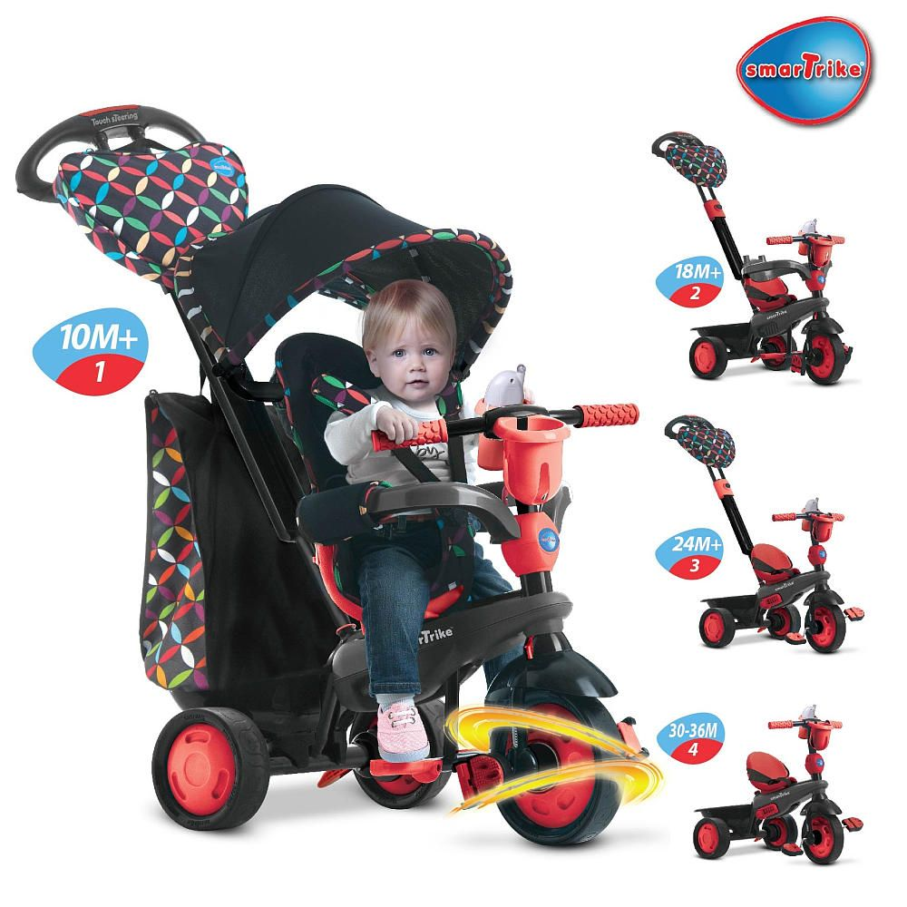 smartrike(r) boutique  in  trike  red  red tricycle and babies - smart trike boutique in red tricycle  toysrus