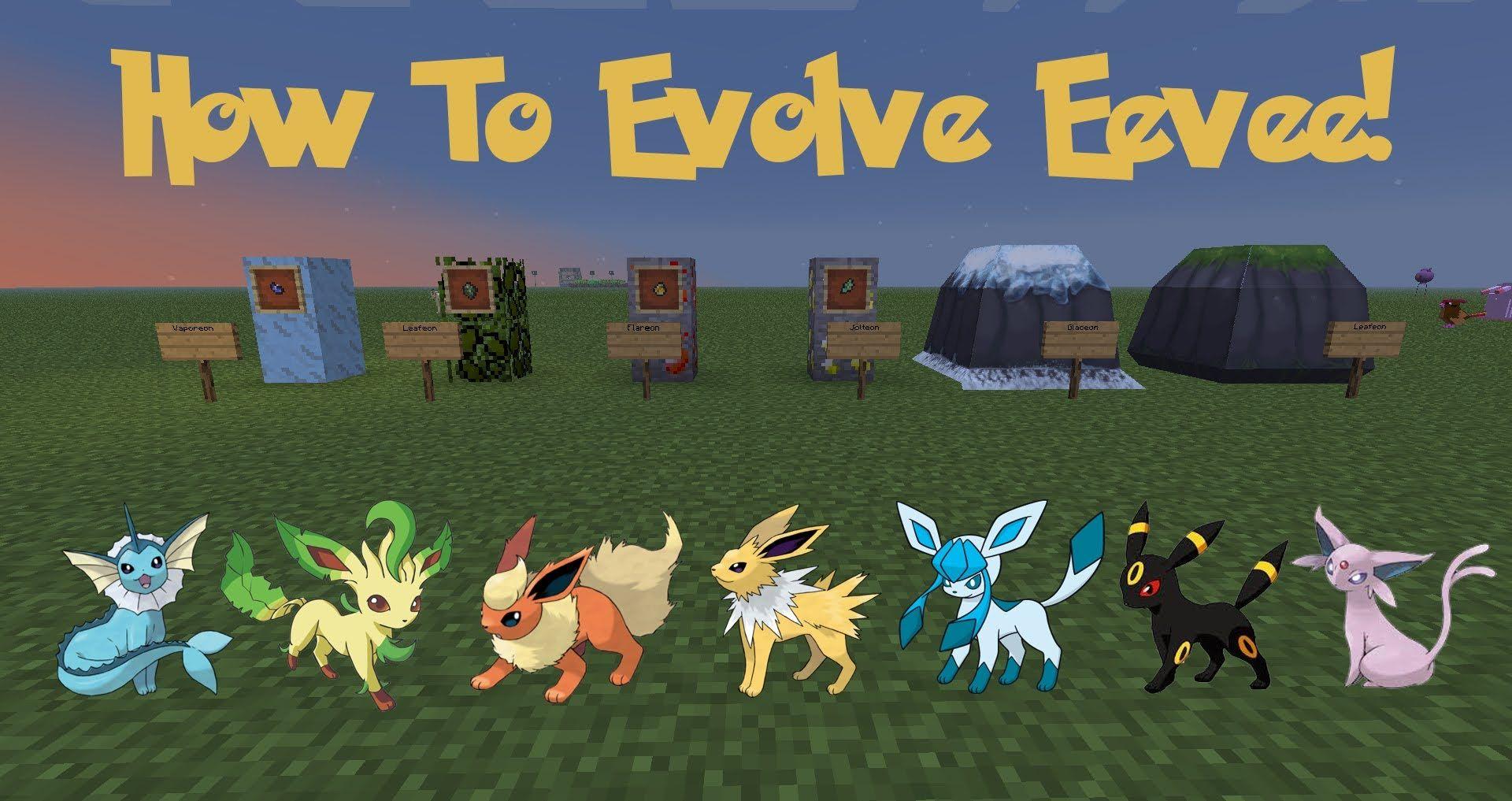How to Evolve A Eevee! Pixelmon Tutorial