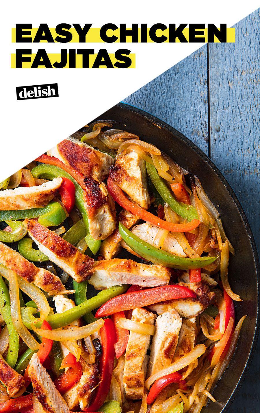 Chicken Fajitas Make The Fastest Weeknight Dinner Recipe Easy Chicken Dinner Recipes Easy Skillet Dinner Easy Chicken Dinners