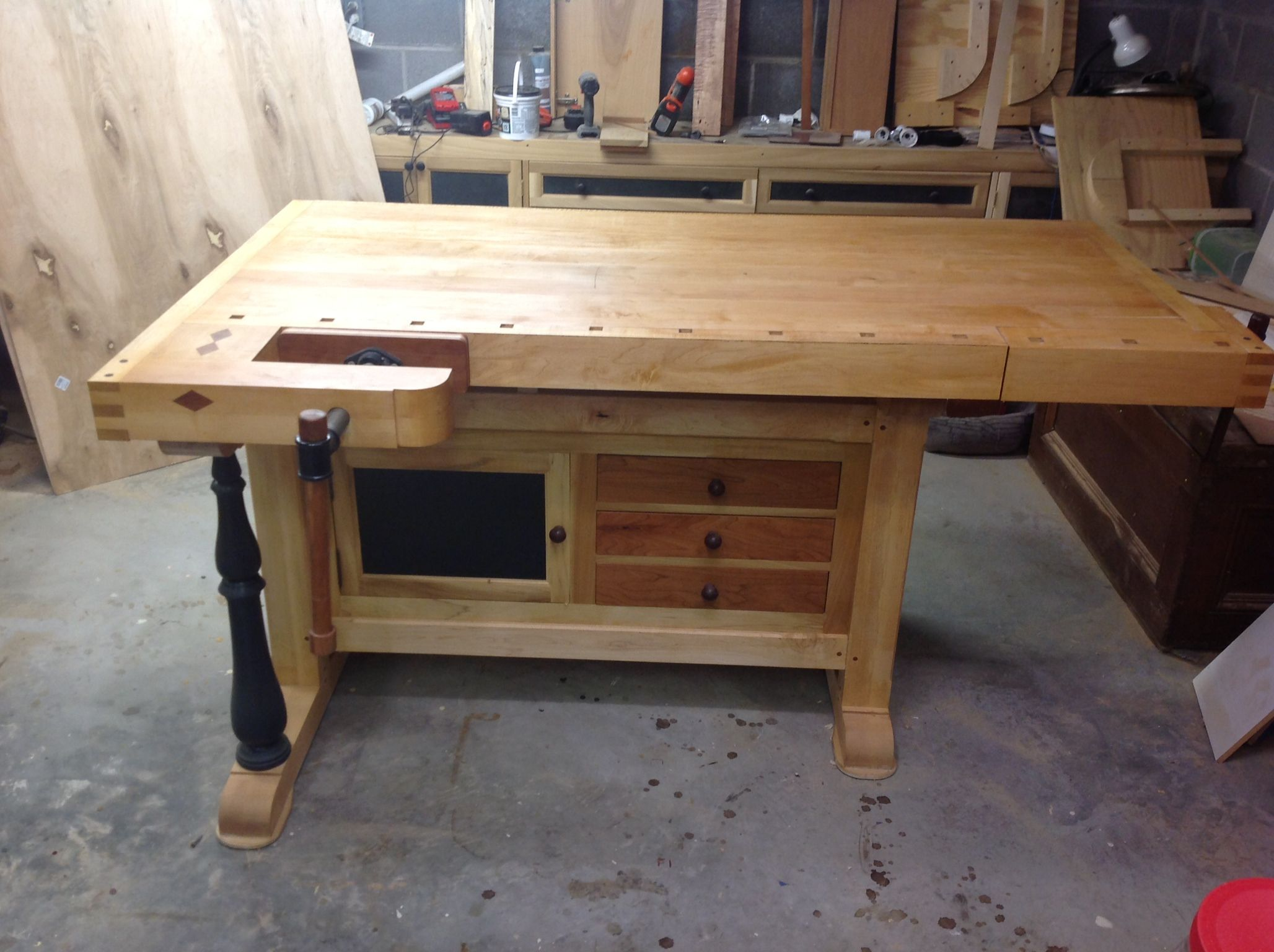 Plan De Travail Etabli My Workbench Etabli Woodworking Workbench Bench Et