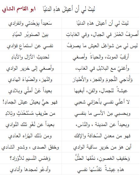 ابو القاسم الشابي Arabic Quotes Philo Words