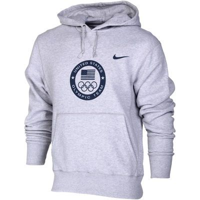 2020 Winter Olympics Apparel.Team Usa Nike Flag And Rings Olympic Hoodie Gray In 2019