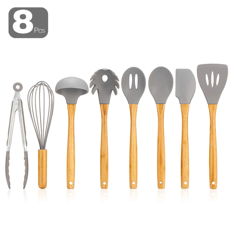 Silicone Kitchen Utensils 8pcs Silicone Kitchen Utensils Cooking Utensils Set Cooking Stores