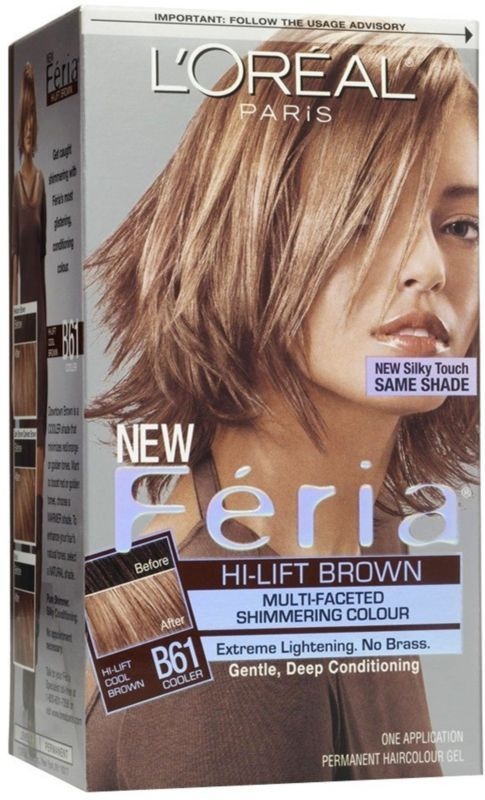 L'Oreal Feria Hair Color B61 Hi Lift Cool Brown 1