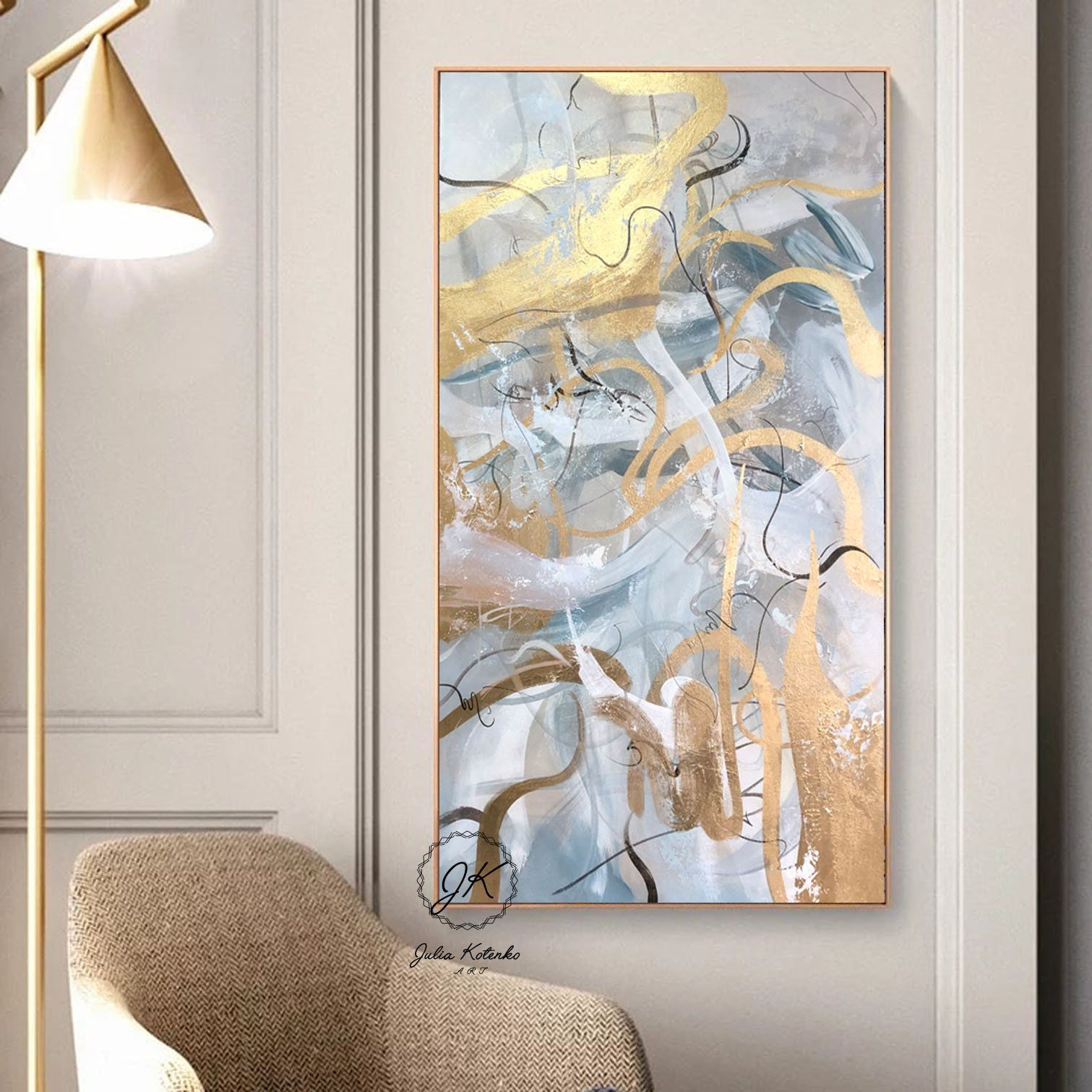 Extra Large Wall Art Gold Leaf Art Abstract Painting Gray Painting Oil Painting Large Canvas Art Pai Extra Large Wall Art Wall Art Gold Leaf Gold Leaf Art