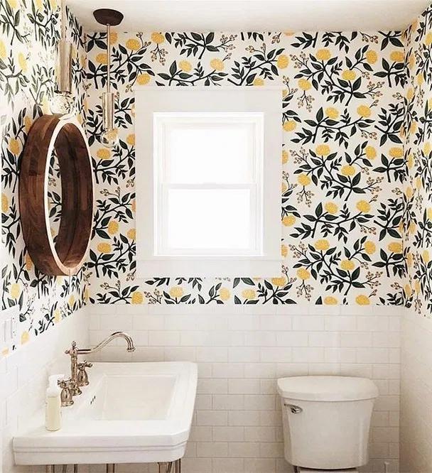 Photo of Über 110 Gründe, Ihr Badezimmer zu tapezieren 25