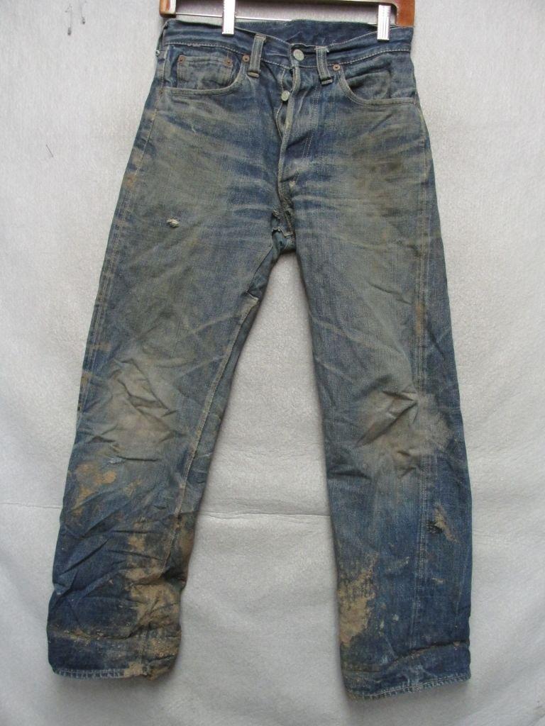 d48b417a0c 503B XX Levis Big E Jeans 1940's Leather Jerky Tag as Found in Montana w 28  L 29 | eBay