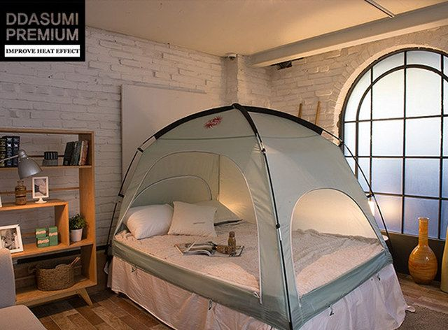 This is the DDASUMI bed tent. Itu0027s a $90 tent that fits over your double · Queen Size ... & This is the DDASUMI bed tent. Itu0027s a $90 tent that fits over your ...