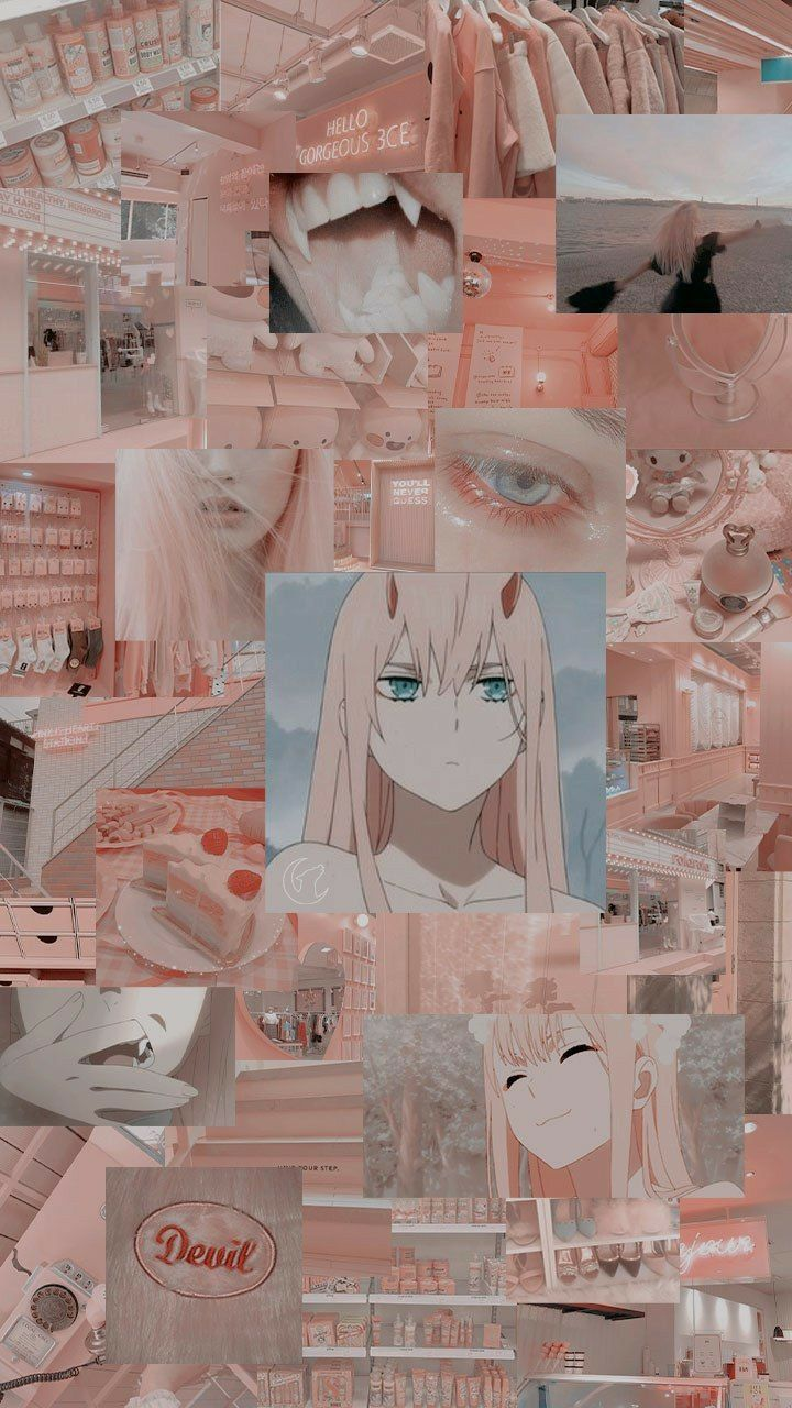 Zero two in 2020 Anime backgrounds wallpapers, Pink
