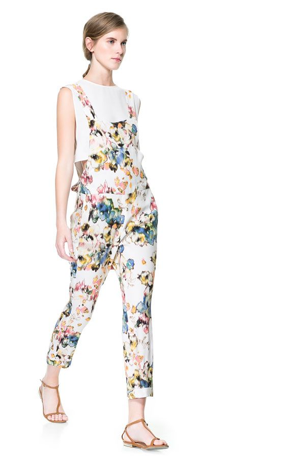 PRINTED FLOWING JUMPSUIT from Zara
