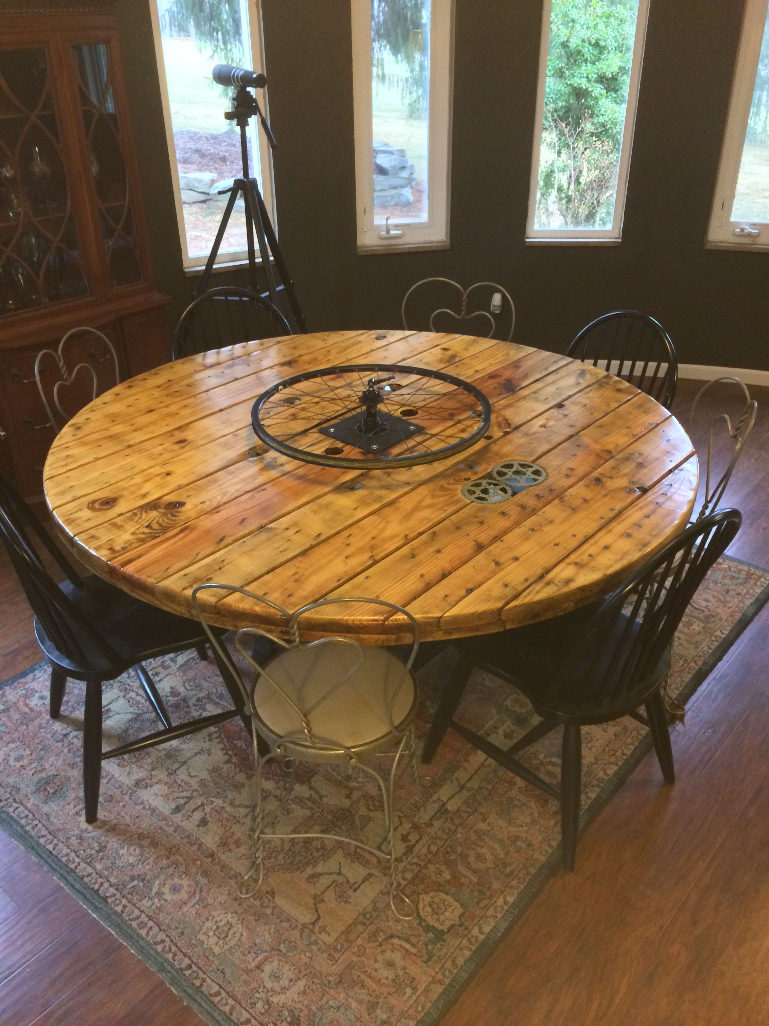 Wire spool table google search kitchen table for Cable reel table