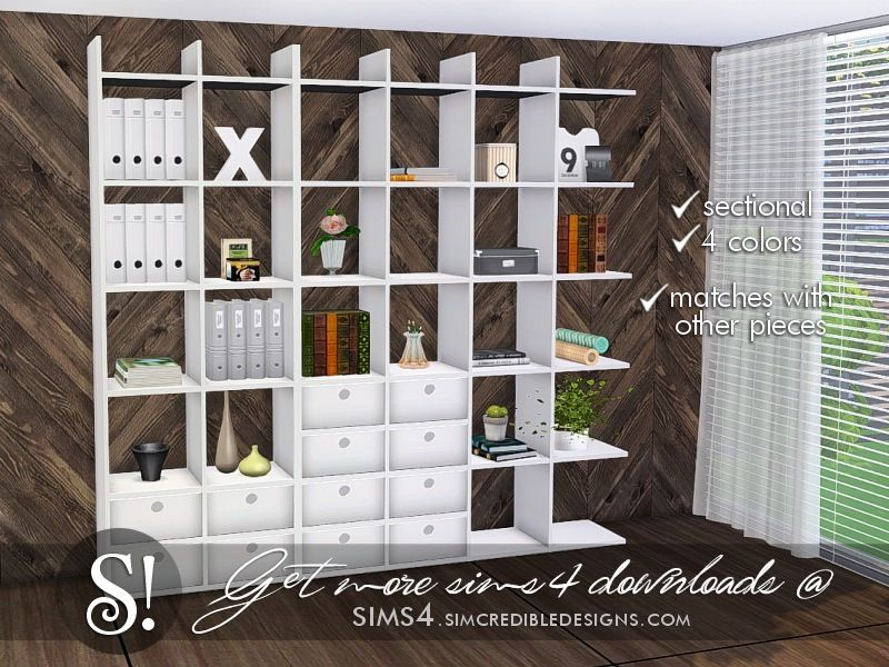 By SIMcredibledesigns Found In TSR Category Sims 4 Bookshelves