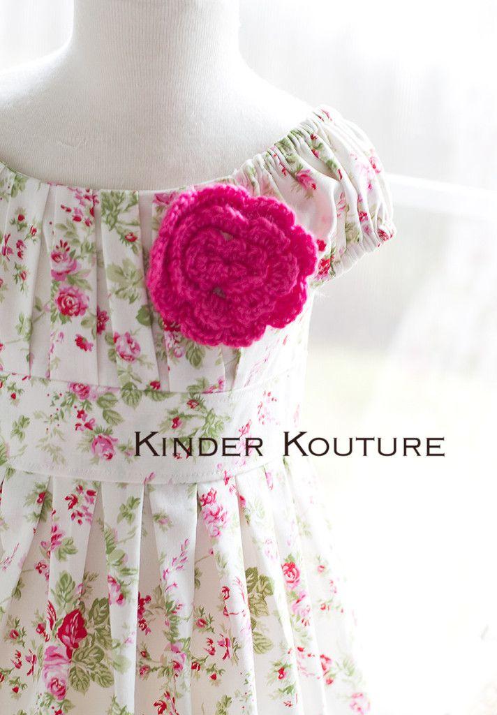 Cream Rose Flower Girl Dress