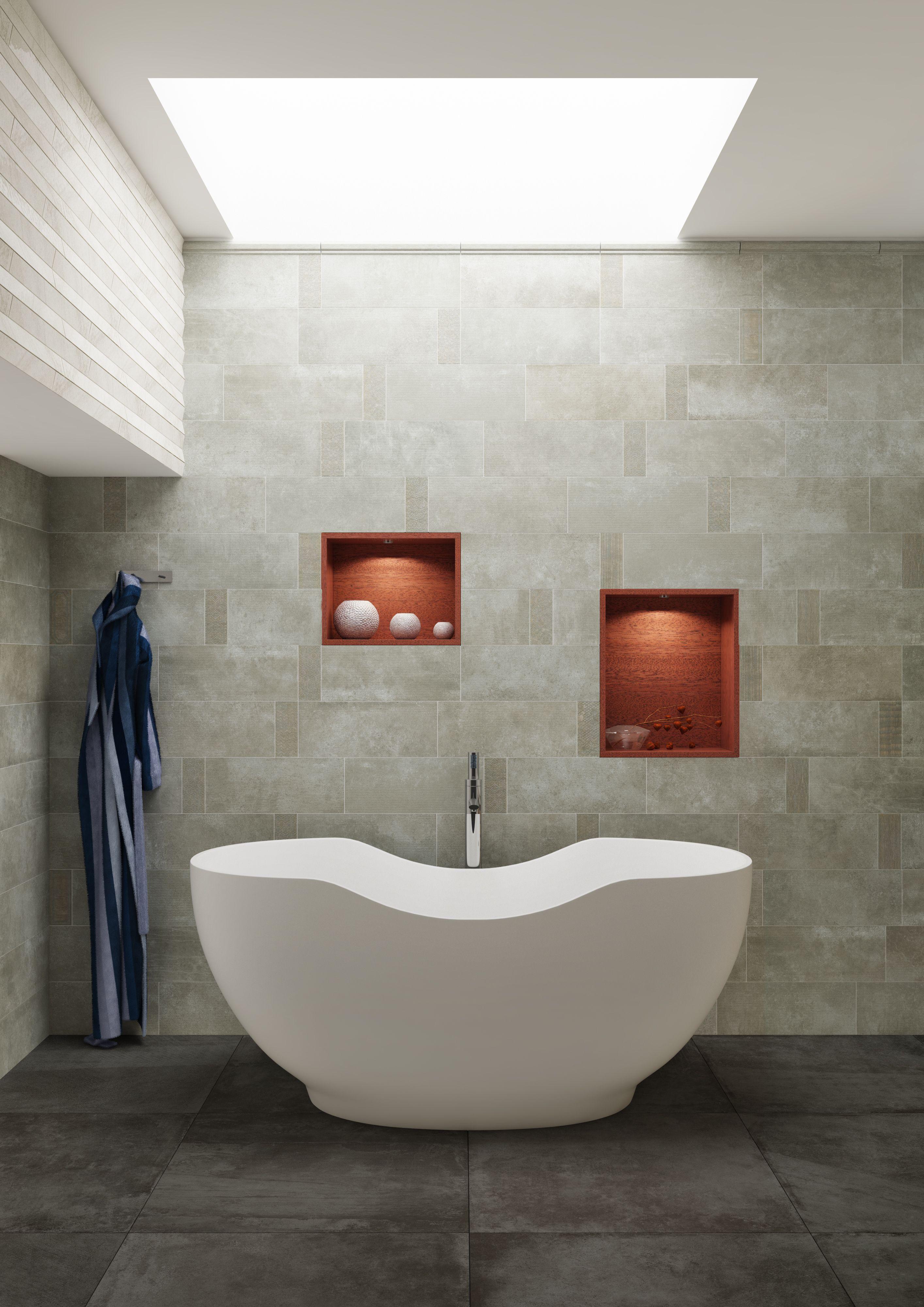 Zement Und Betonoptik Elegant In Szene Gesetzt Badewanne Bath