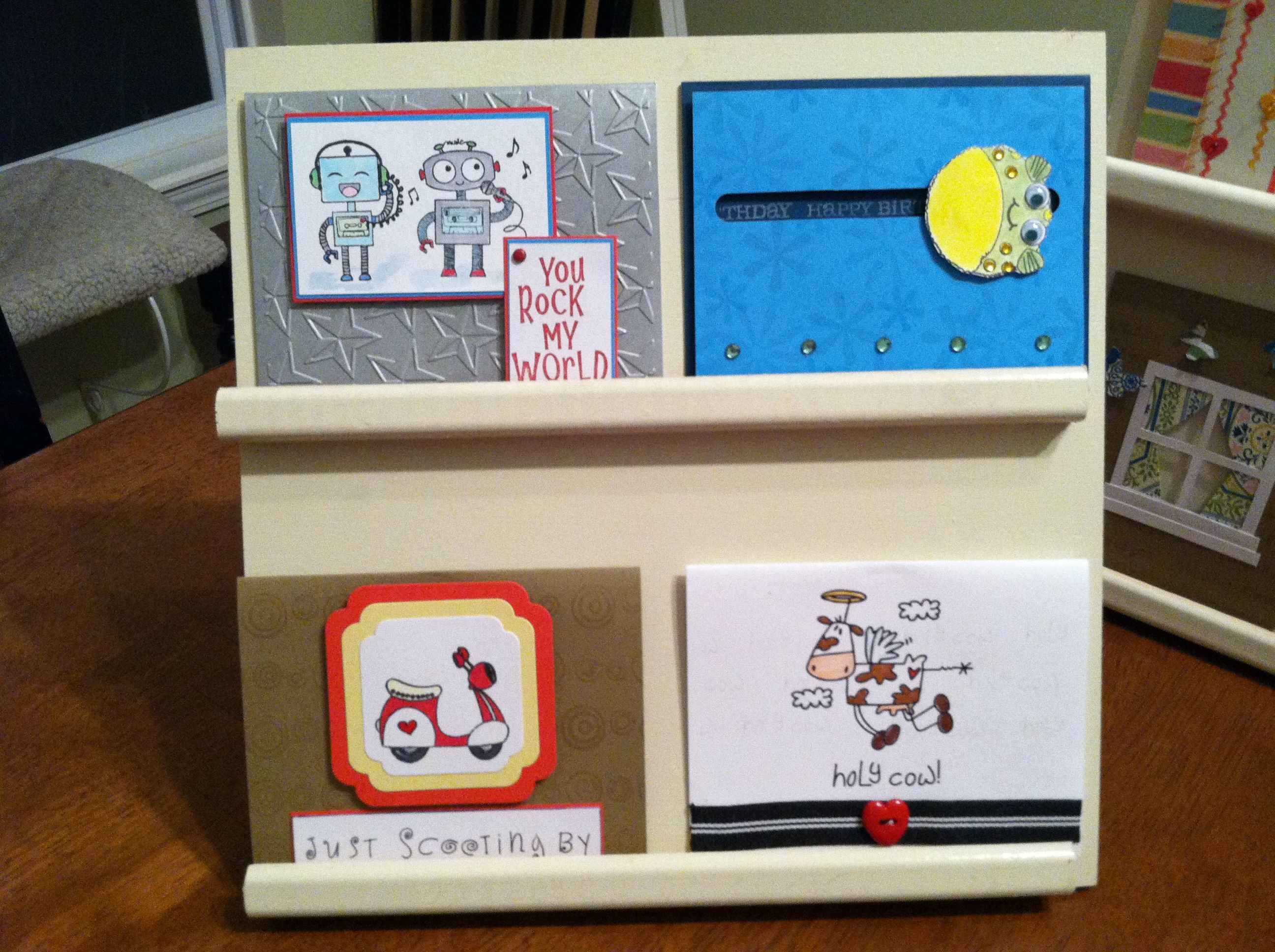 Second small display stand popup shops pinterest card displays second small display stand craft show displayscard displaysgreeting kristyandbryce Images