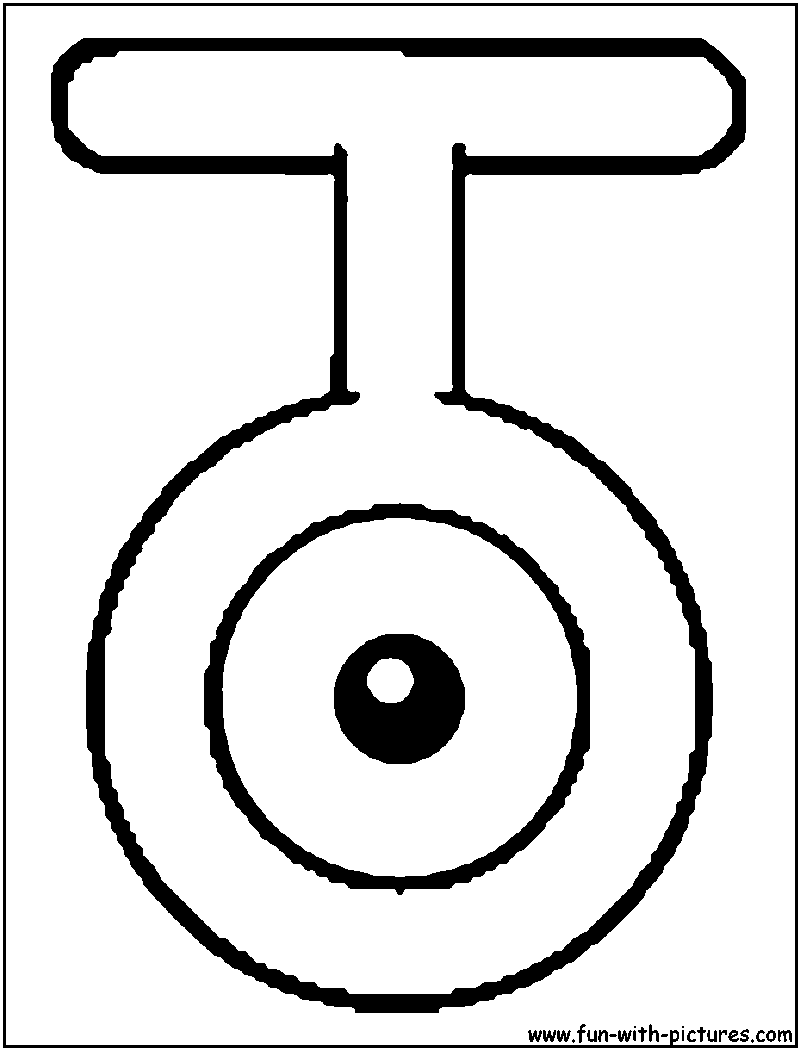 Unown T Coloring Page Coloring Pages Color Colouring Pages
