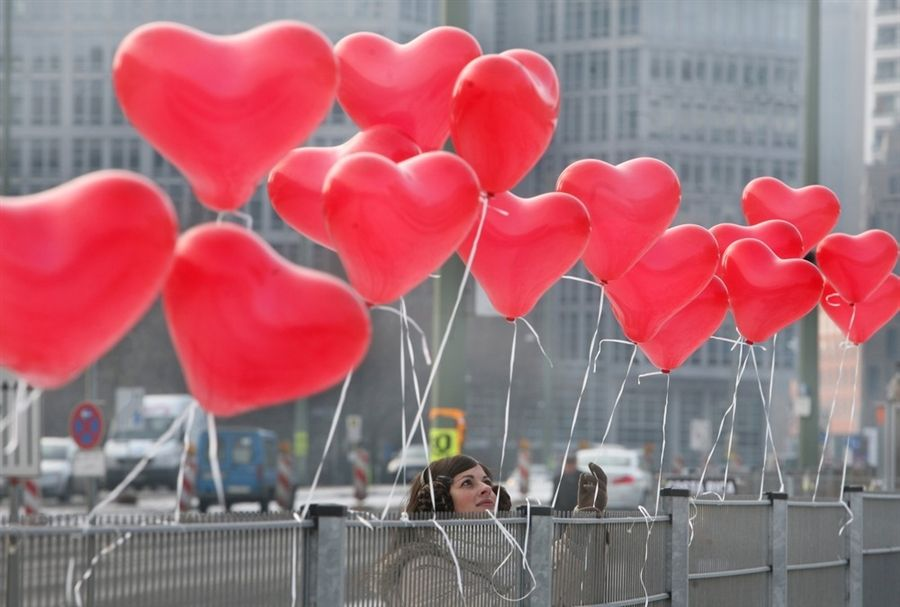 heart-shaped balloons -- a universal sign of love for valentine's, Ideas