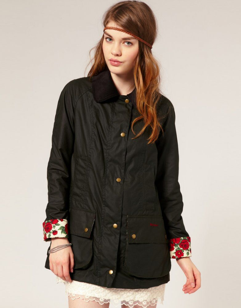 Barbour waxed jacket womens sale