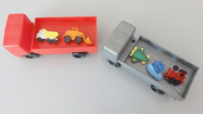 voitures et trains à coudre  pour enfants. Marque Récréatys