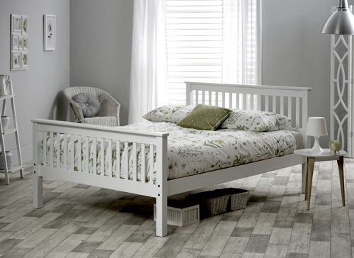 Best Bedmaster White Grace High Foot End Bed Frame In 2019 640 x 480