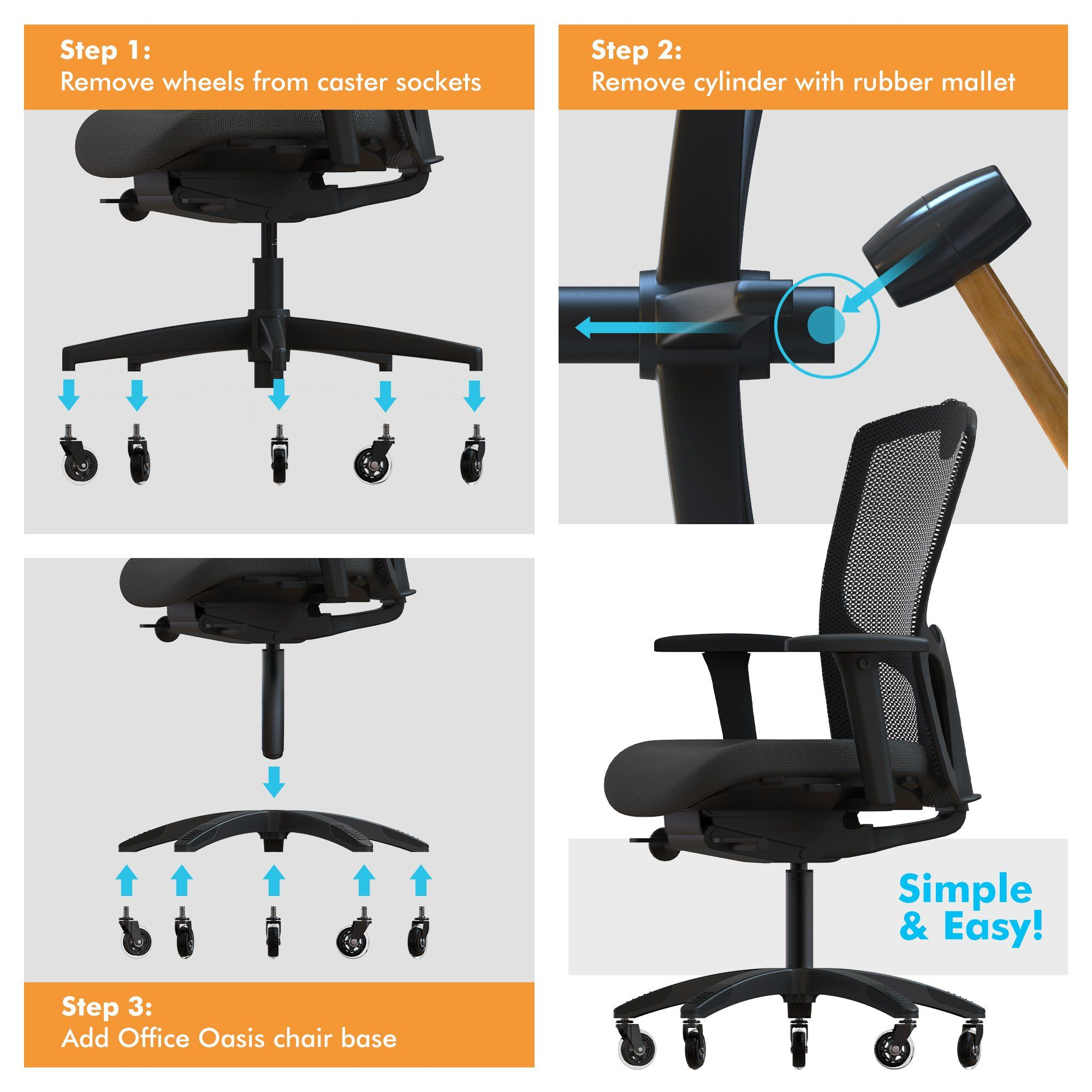 Office Chair Base Replacement Heavy Duty Chair Parts To Repair