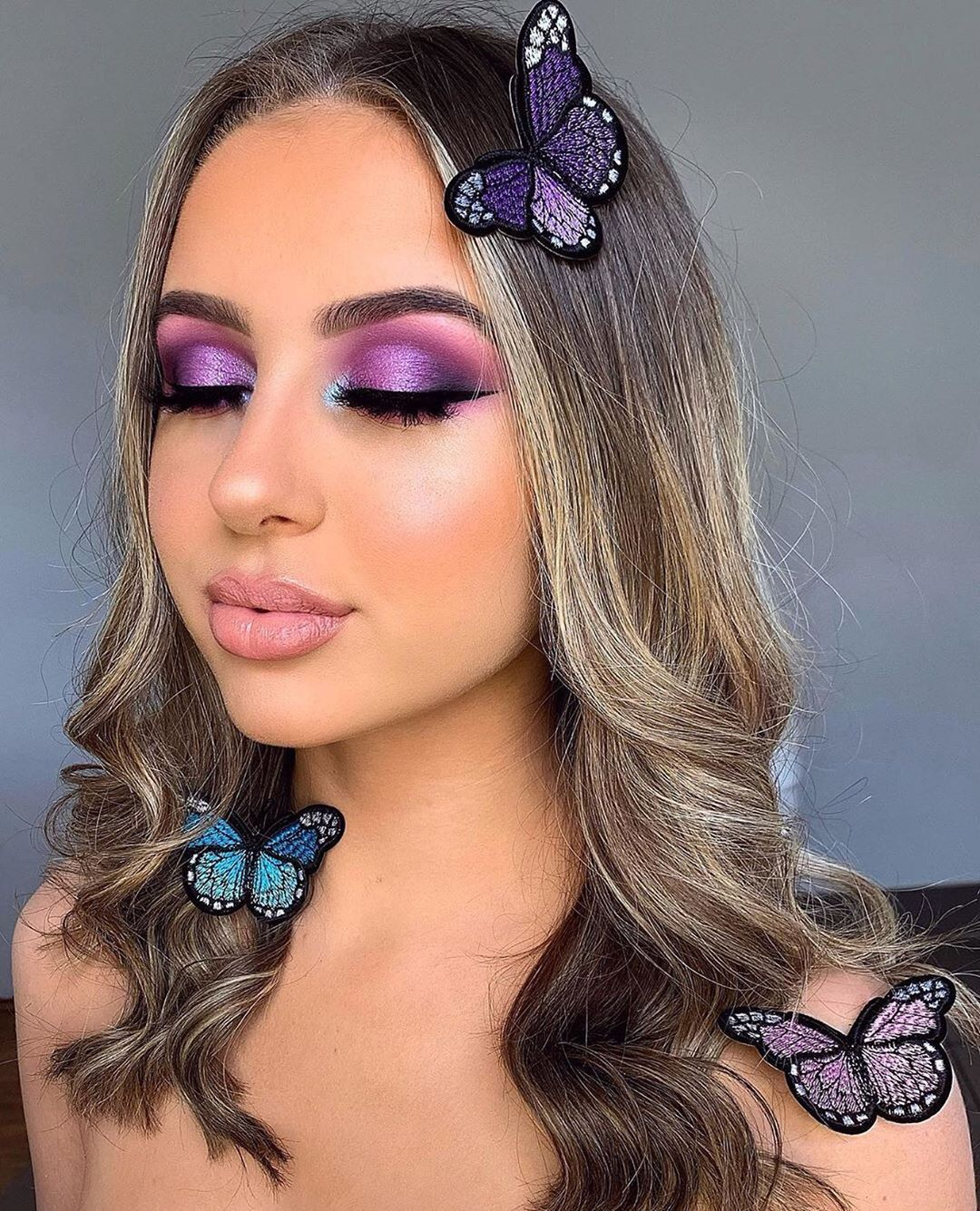 """Kylie Cosmetics on Instagram: """"how stunning is this glam using Stormi Palette? 💜🦋 by @lkjbeauty_"""""""