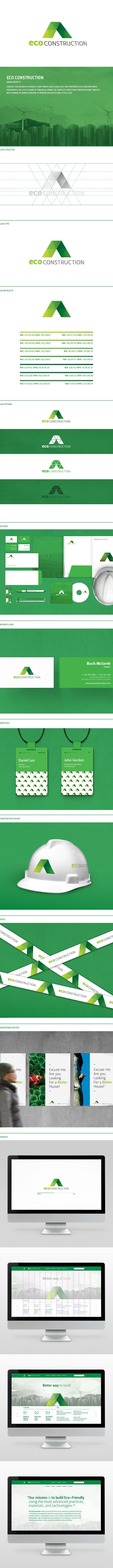 Eco Construction by Jasung Gu, via Behance #branding #graphicdesign