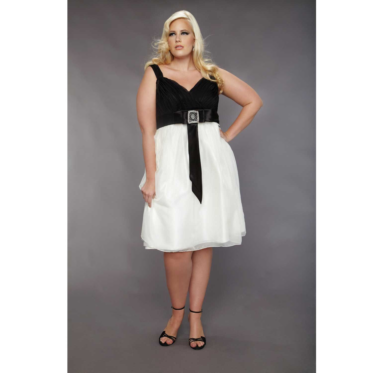 white and black short wedding dresses plus size | Inexpensive Tea ...