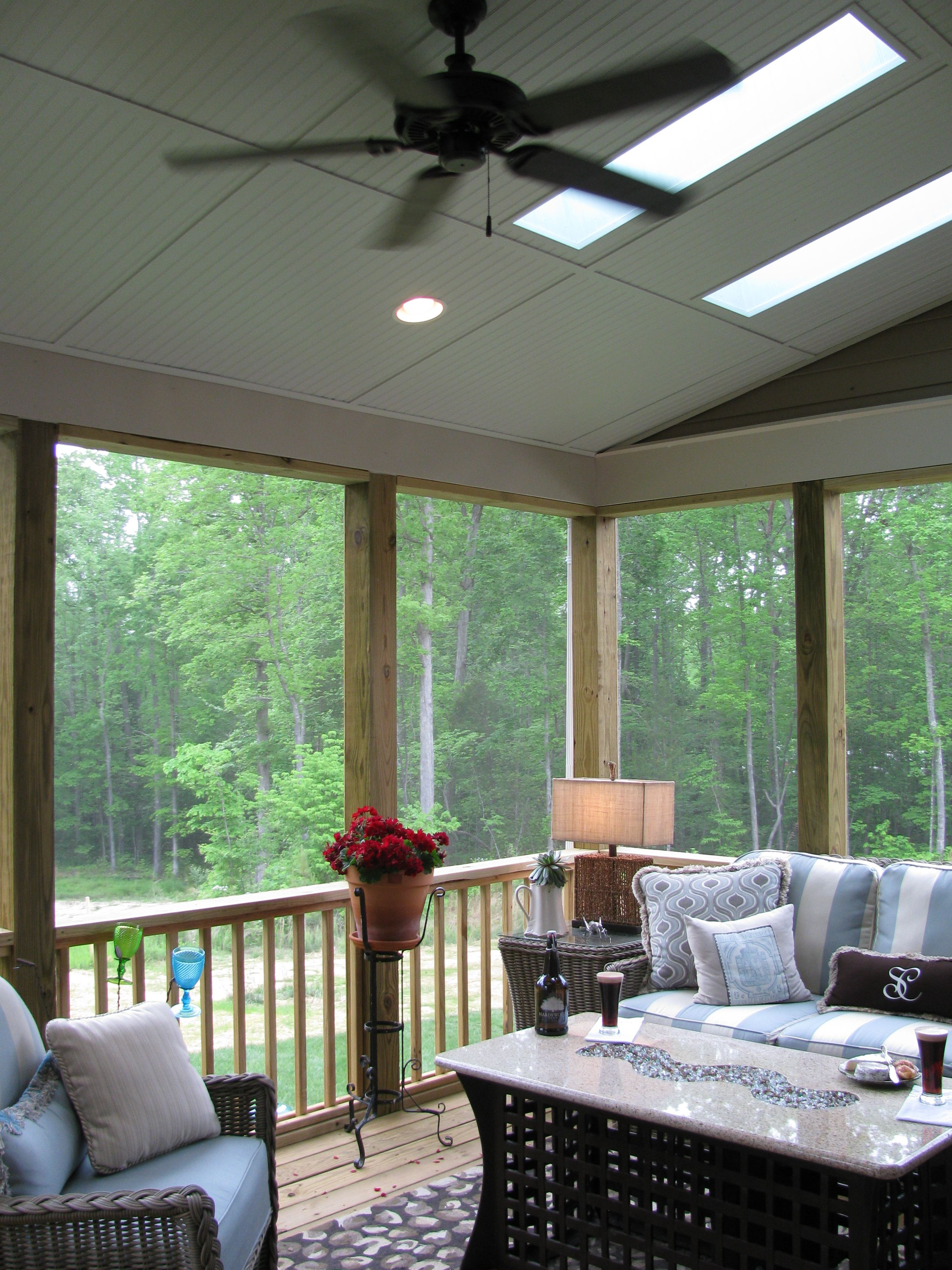Convert The Deck To A Screened In Covered Porch With