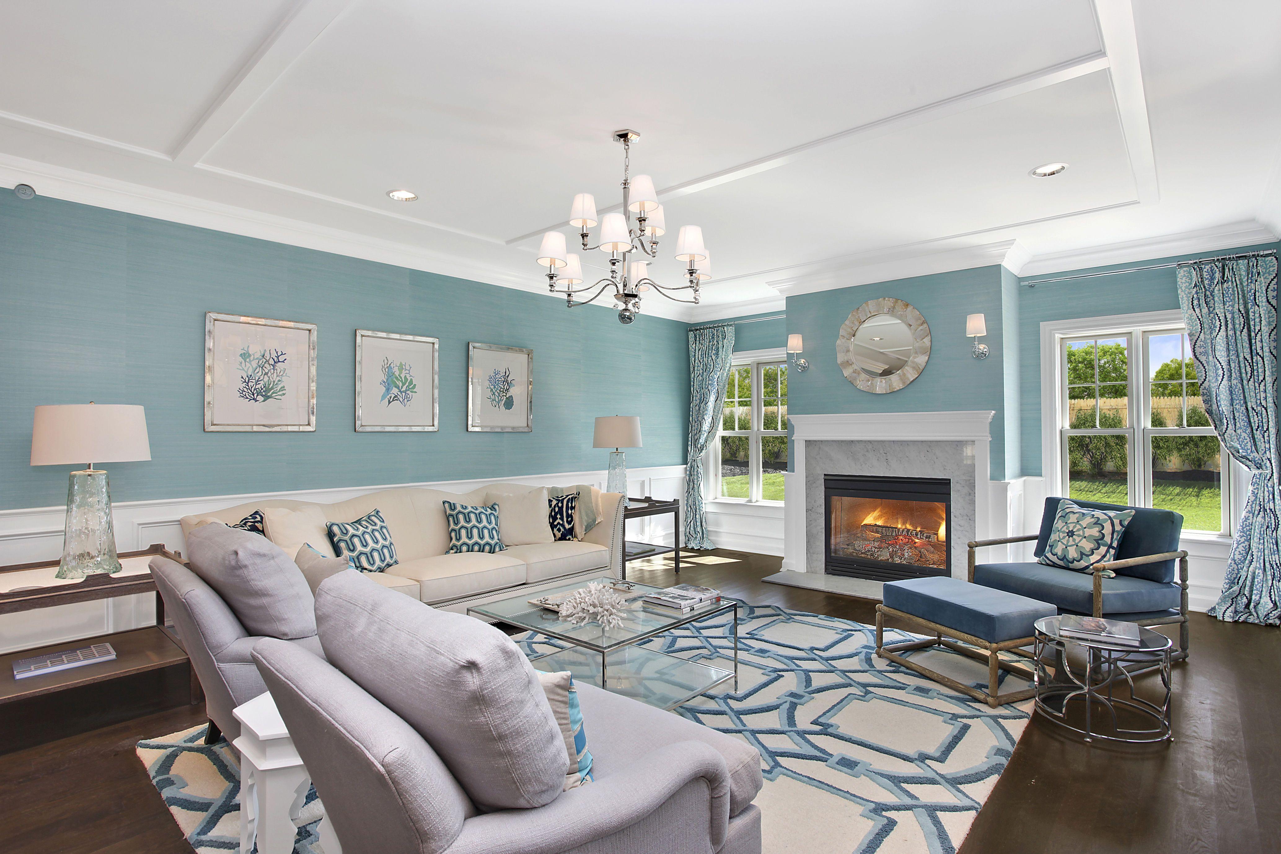 Model Interior Design Living Room Living Room Of The A Model At Bishops Pond Southampton Village