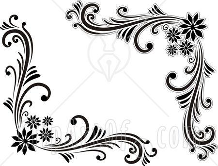 black-and-white-corner-border-designs-1509649   design idea's