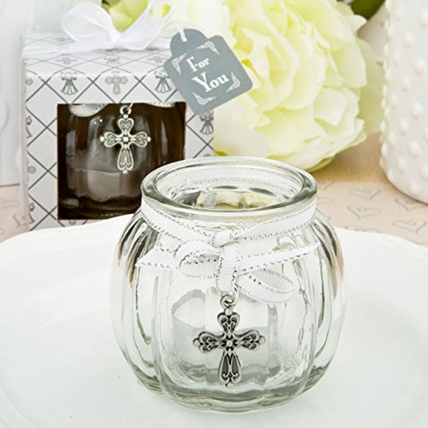 100 Cross Themed Clear Glass Round Globe Candle Holder -- Awesome ...