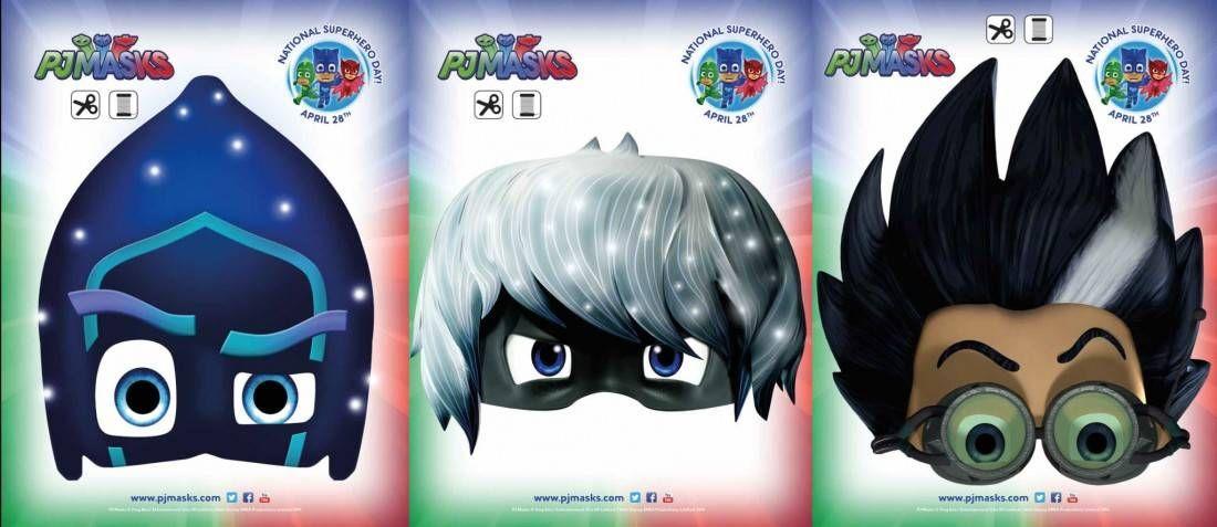 Printables PJ Masks Night Ninja, Romeo, Luna Pj mask