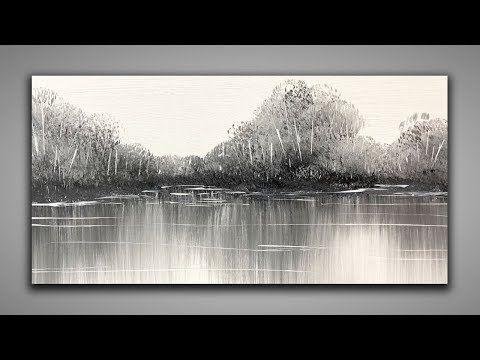 Black White Easy Landscape 147 Relaxing For Beginners