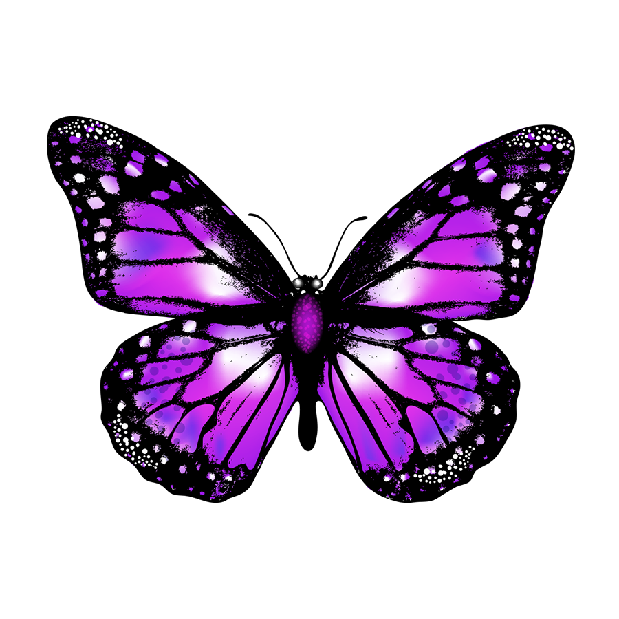 Free download high quality purple butterfly png vector