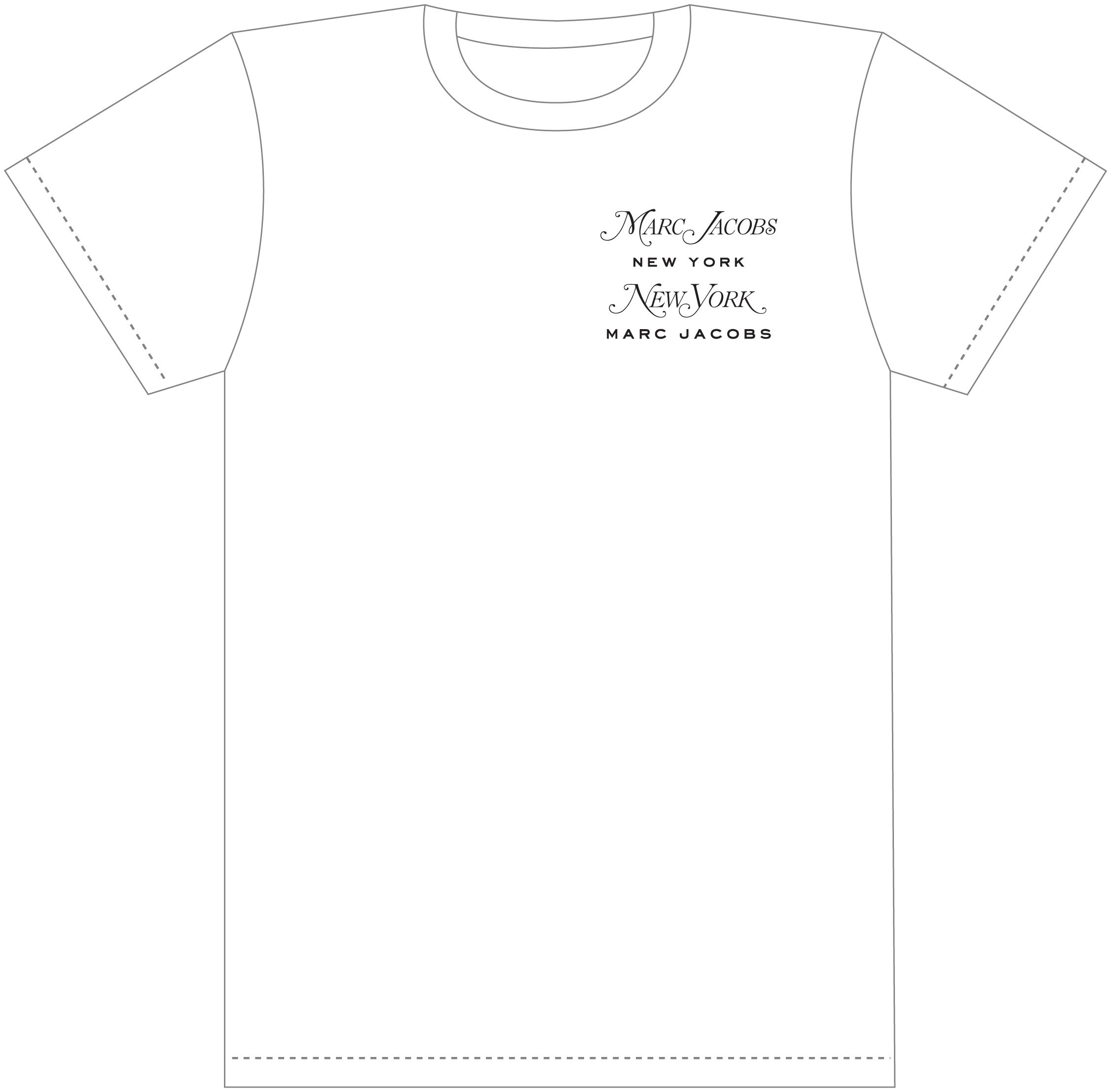 Limited-edition Marc Jacobs + New York Magazine tee. We tried one anothers' typefaces on for size—clever, right? Stop by the Marc Jacobs store on Bleecker St. in NYC tonight during FNO to claim yours!